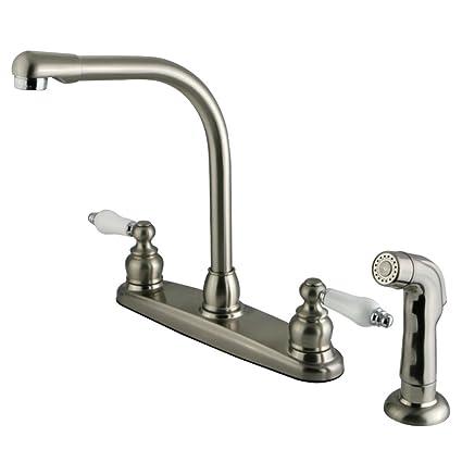 Kingston Brass KB717SP Victorian High Arch Kitchen Faucet ...