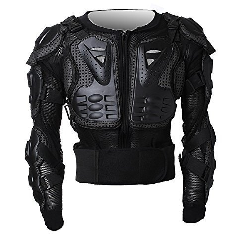 Motorbike Motorcycle Protective Body Armour Armor Jacket Guard Motorcross Racing Clothing Bike Bicycle Cycling Riding Biker Motocross Gear Black ( Size XL ) For 2006 2007 2008 Ducati S4RS