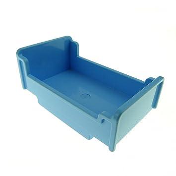 1 x Lego Duplo Möbel Bett hell blau 3 x 5 x 1 2/3 Schlafzimmer ...