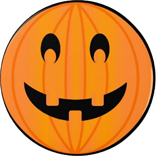 "Halloween Pumpkin Smiley Face 1.25"" Pinback Button Pin - Holiday"