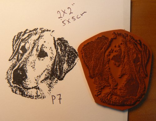 Cling mounted labrador dog rubber stamp P7