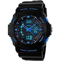 Kids Watches, Digital Analog Sports Waterproof Outdoor Wristwatch with Alarm Boys Led Watch,Children Gift