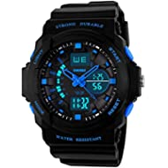 Kids Watches, Digital Analog Sports Waterproof Outdoor Wristwatch with Alarm Boys Led...