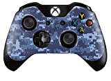 Cheap Xbox One Controller/Gamepad Skin / Cover / Vinyl Wrap – Blue Digital Camouflage Design (Pack of 2 Skins)