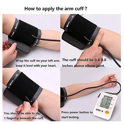 LotFancy Blood Upper Large , Mode Electronic Sphygmomanometer