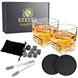 Whiskey Glass and Stones Gifts Set