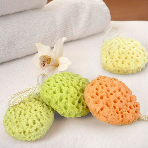 Cindy&Will 2Pcs Hydrophilic Polyurethane Nonirritant Baby/Infant/Toddler Bath Shower Sponge Brush/Ball, Random Color