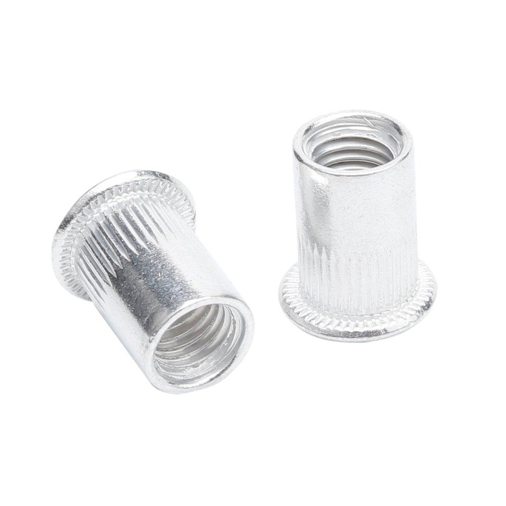 100pcs M5 Aluminum Alloy Rivnut,Flat Head Threaded Rivet Insert Nut, Cap Rivet Nut (M5)