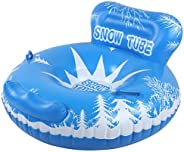 Handle Design Snow Tube, Heavy Duty Inflatable Snow Toys, Outdoor Floated for Kids Adults