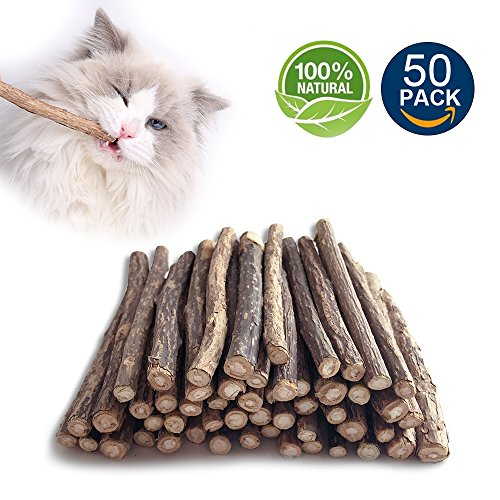 Ace one Cat Catnip Stick Chew Sticks Natural Matatabi wood Chew Toy Cat Teeth Cleaning GrindingMolar Sticks for Cat Kitten Kitty play and relax(50pcs) (Relax Cat)