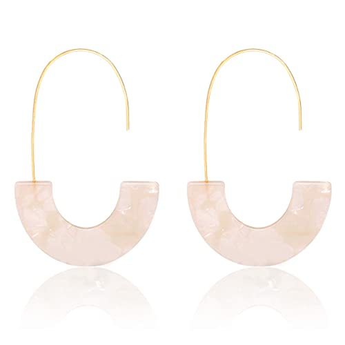 5a1dc8d45bcfc MOLOCH Acrylic Earrings Statement Tortoise Hoop Earrings Resin Wire Drop  Dangle Earrings Fashion Jewelry for Women