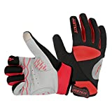 JUSTKIT Cycling Gloves -Touch Screen Full Finger Bike Gloves - Windproof...
