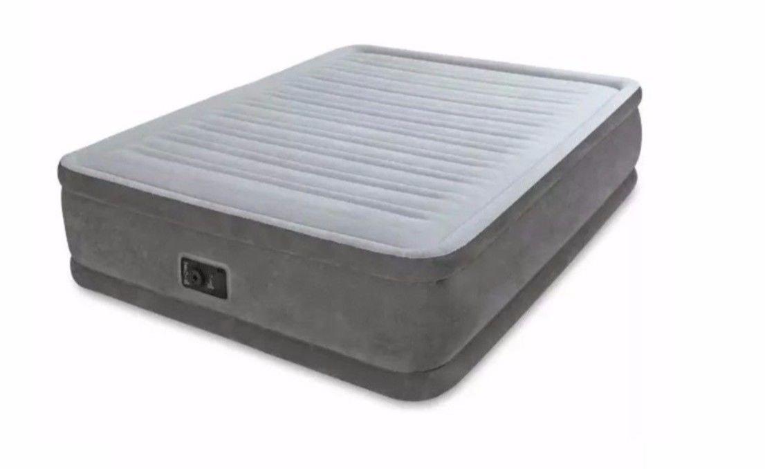 Intex Unisex 64414bs dura-Beam Serie erhöht Luftmatratze mit Bip (begriffsklärung) (nur für UK), grau, Queen Größe