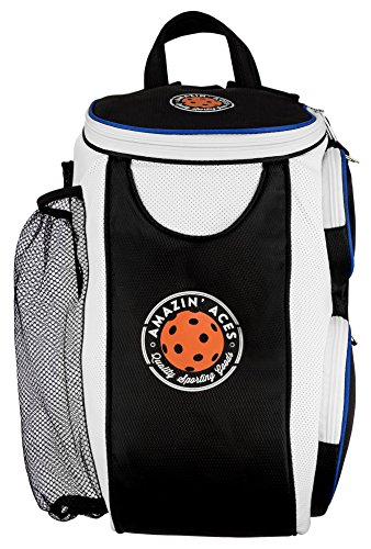 Amazin' Aces Premium Pickleball Backpack | Bag Features Pickleball Holder/Sleeve | Pack Fits Multiple Paddles | Convenient Pockets Phone, Keys, Wallet | Padded Back & Straps Added Comfort by Amazin' Aces (Image #2)