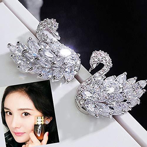 Pear Zircon White - MUPWG Micro Pave Zircon pear Shaped Earrings Earring Ear Dangler White swan Black Zhao liying yang mi (White