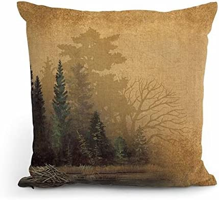 Wild Wings Misty Forest II 18 Decorative Pillow by Bob Metropulos