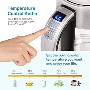 Deeplee Glass Electric Kettle BPA Free – The beeping kettle