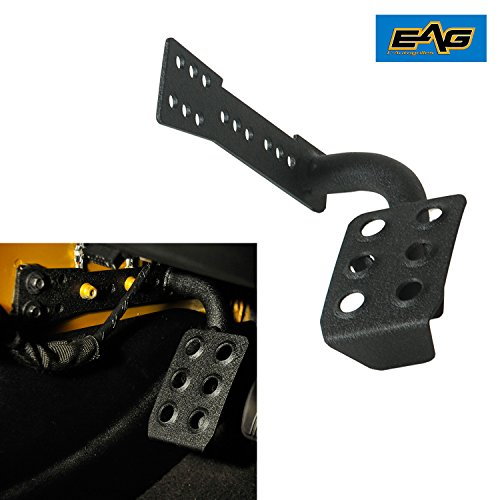 EAG Metal Dead Pedal Left Side Foot Rest for 07-17 Jeep Wrangler JK & JK Unlimited
