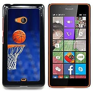 """Qstar Arte & diseño plástico duro Fundas Cover Cubre Hard Case Cover para Nokia Lumia 540 (Cancha de Baloncesto aro"""")"""
