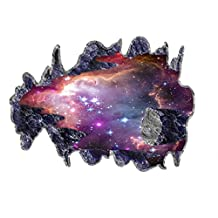M-Egal 3D Space Galaxy Meteorite Wall Sticker Decal For Living Room Bedroom TV Background 60*90cm