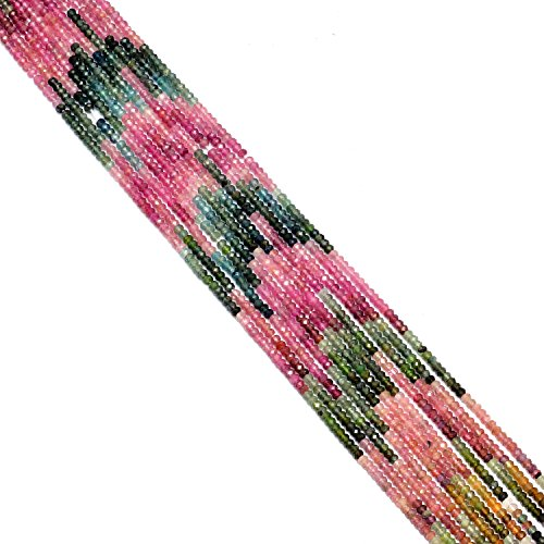- Elegantjewels 1 Strand Natural Multi Tourmaline-2-3mm Faceted Rondelle Beads Strand,Approx 15