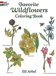 Favorite Wildflowers Coloring Book Dover Nature