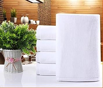 Adult blancas toallas de algodón de grosor watte Toalla Grande Hoteles: Amazon.es: Hogar