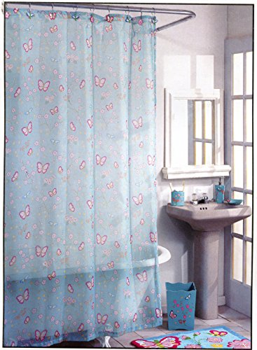 Madame Butterfly Fabric - Madame Butterfly Fabric Shower Curtain - 70
