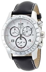 Tissot V8 T039417 - Reloj de caballero de cuarzo, correa de piel color negro
