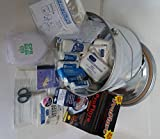 Emergency Bucket, First Aid Supplies, Water Filter System, Flashing LED Light