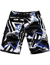 Cameinic Men's Fashion Printed Quick Dry Beach Board Shorts Swim Trunks