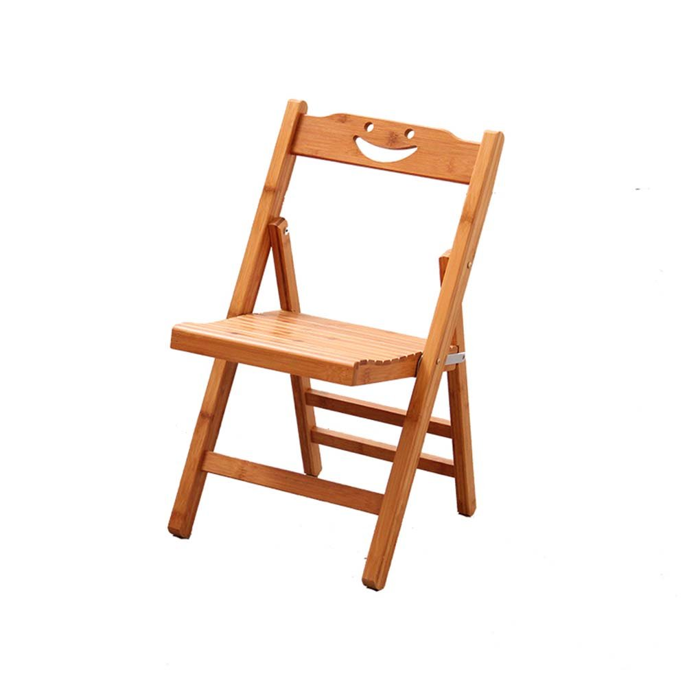 ZEMIN ダイニングチェア椅子の木の木製折り畳み 椅子 シート スツール ラダー 表 折畳み式 木製 バックレスト 竹 パッド入り 多機能、 木の色、 2サイズあり ( サイズ さいず : 38X44X76CM ) B078RLHYVX38X44X76CM