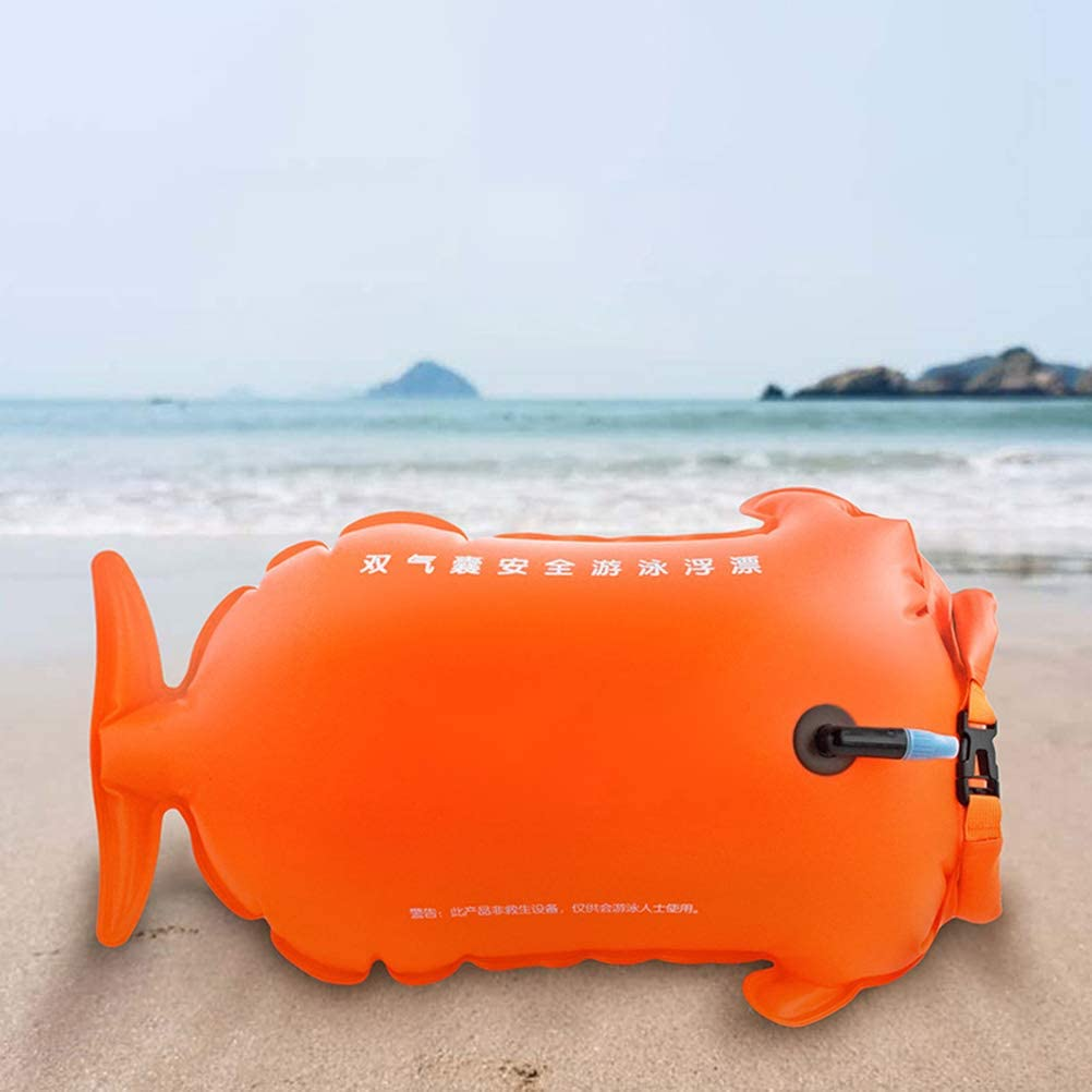 Kenyaw Swimming buoy Swim Buoy waterproof dry bags triathlon lifebuoy Waterproof inflatable highly visible swimming buoy