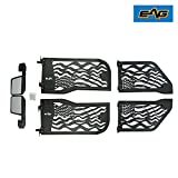 EAG US Flag 4 Tubular Doors With Reflection Mirrors for 07-18 Jeep Wrangler JK 4 Door Only