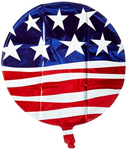 Kaleidoscope Modern Stars & Stripes USA Flag Mylar Balloon, 5 Piece (Kaleidoscope Stripe)
