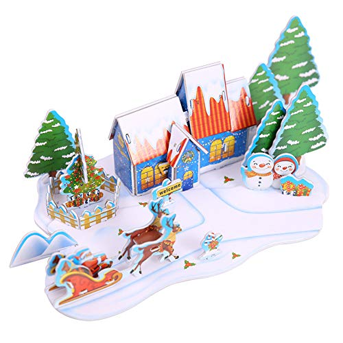 Move on Christmas House DIY 3D Jigsaw Puzzle 2# -