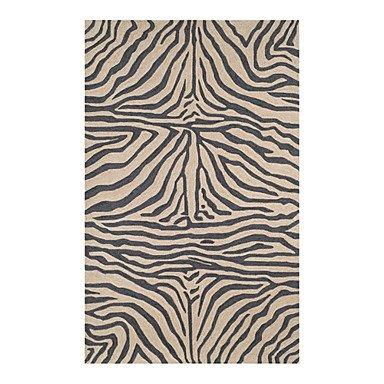 GAW Acryl Fixbereich Wolldecke mit Streifenmuster 5'*8' Schwarz