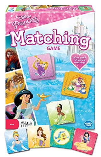 Wonder Forge Disney Princess Matching Game  for Boys & Girls Age 3 and Up - A Fun & Fast Memory Game You Can Play Over & Over ()
