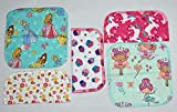 2 Ply All Things Girl Flannel Washable Kids Lunchbox Napkins 8x8 inches 5 Pack - Little Wipes (R) Flannel