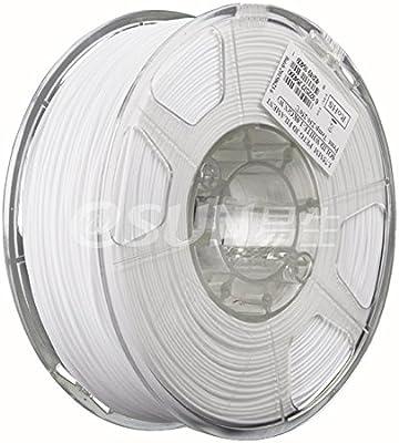 Esun PETG color blanco de 1,75 mm 3d filamento 1 kg (2.2lb), PETG ...