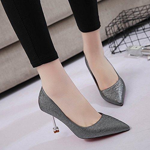 Xue Qiqi Kleine keine Möglichkeit haben Sie unnahbar und und und high-heel Schuhe Teenager im Licht der feinen Qualität mit einzelnen Schuhe Frauen stehen Schwarz 8f3518