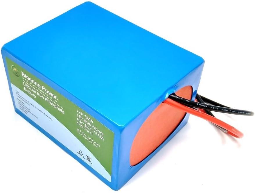 Bioenno Power 12V PVC, BLF-1215A 15Ah LFP Battery