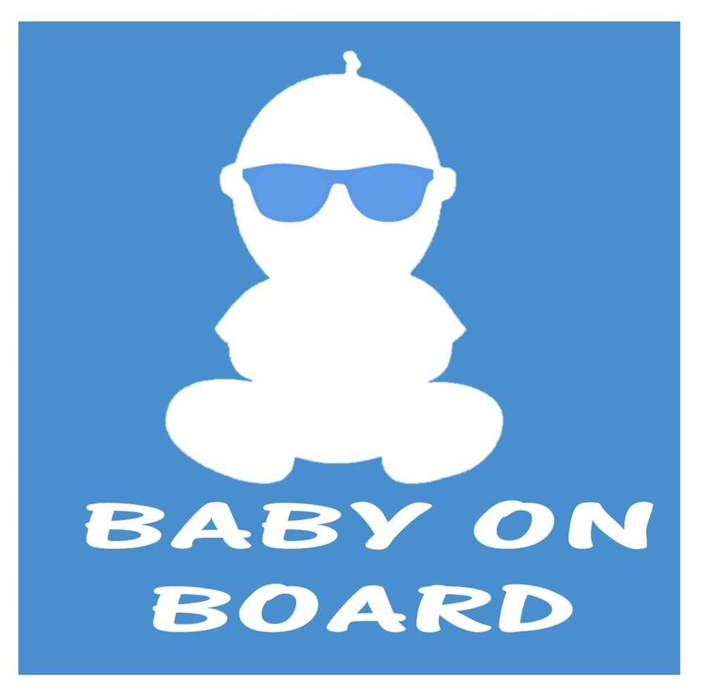 Baby on Board sunglasses *I395* 8 inch Sticker decal pregnancy nursery baby bed EZ-STIK