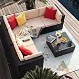 Homall 6 Pieces Furniture Outdoor Sectional Sofa