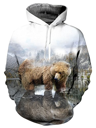 UNIFACO Teen Boys Forest Bear Pullover Hoodie Cool Unisex Long Sleeve Casual Sweatshirt Hooded XXL]()