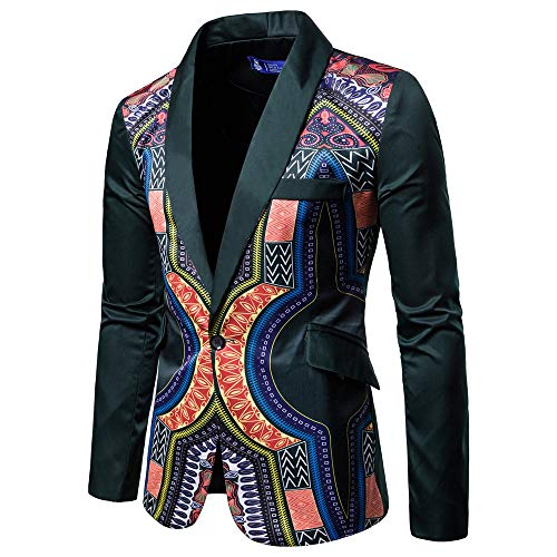 - Toimothcn Charm Men's Sequin Casual One Button Fit Suit Blazer Coat Jacket Party(Green,M)