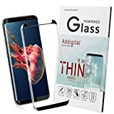 Galaxy S8 Plus Screen Protector,Candywe Samsung S8 Plus tempered glass [Black] ,HD Clear,Anti-Scratch,Anti-Bubble Glass Screen Protector for Galaxy S8 Plus