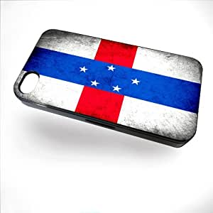 Case for iPhone 4/4S with Flag of Netherlands Antilles - Rustic