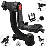 Fomito 360 Panoramic Gimbal Tripod Ball Head with Arca Swiss Quick Release Plate for DSL Tripod Camera Lens, GoPro, Smartphone