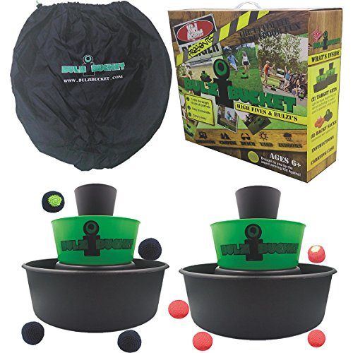 BULZiBUCKET Beach, Tailgate, Camping, & Yard Game Indoor/Outdoor By Kid Agains, Daytime Active Camp Games, Camp Games Kids And Adults Love